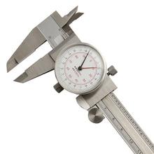 Циферблат суппорт 6 «/150 мм ДВОЙНОЙ УКАЗАТЕЛЬ чтения масштаб метрики дюймов Стандартный штангенциркуль измерительные инструменты