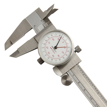 On sale Dial Caliper 6″/150mm Double Pointer Reading Scale Metric Inch Standard Vernier Caliper Measuring Tools