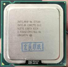 Unité centrale de traitement Intel Core 2 Duo E7500 LGA775, pour ordinateur de bureau