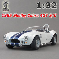 New 4 Colors Ford 1965 Shelby Cobra Scale 1 32 Alloy Diecast Model Car Toy Car