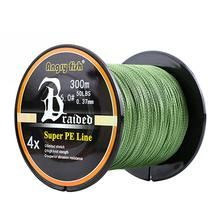 High Strength 300m/328yds 4 Braid Single Color Fishing Line-Green