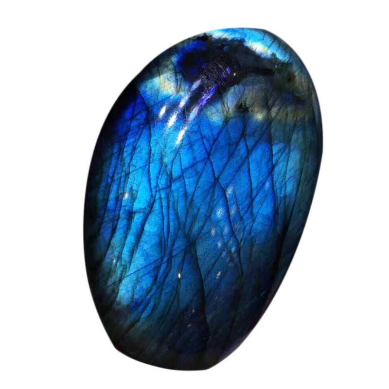 天然ムーンストーンの石の装飾品ハンドピース天然水晶ラブラドライトオリジナルの石鉱石標本