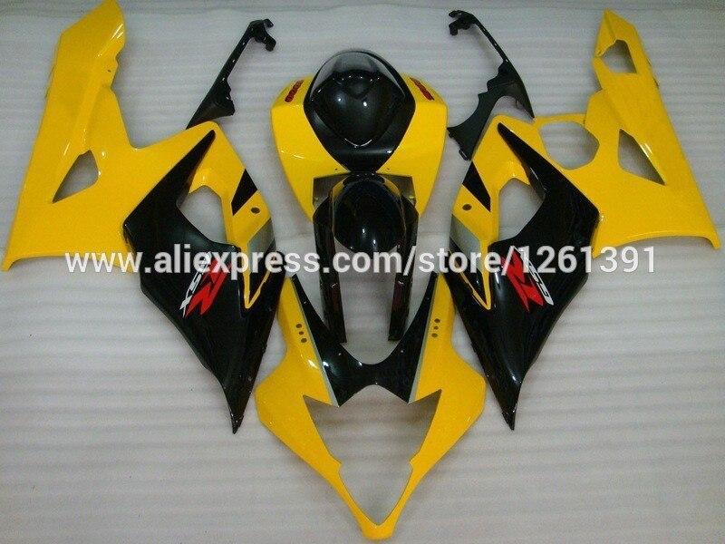 Литья под давлением черного, желтого цвета полный комплект обтекателя Для SUZUKI GSX-R1000 K5 05-06 GSXR1000 GSX R1000 GSXR 1000 K5 05 06 2005 2006 Fairi