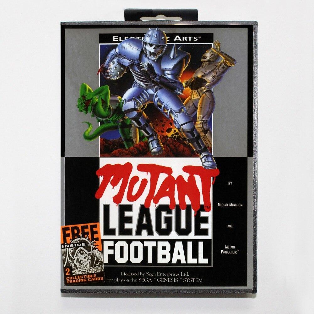 Mutant League FootballGame Cartridge 16 bit MD Game Card With Retail Box For Sega Mega Drive For Genesis