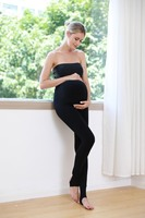 Pregnant Women's Stomach Lift One Pants Long Paragraph Stepping on The Foot with Elastic Band Solid Color Pregnancy Pants