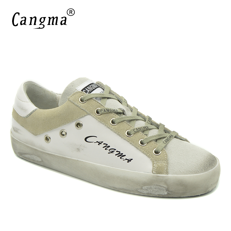 CANGMA Luxury Brand Casual Shoes For Women Geniune Leather White Lady Flats Suede Lace-up Classic Comfort Footwear Spring Autumn new winter autumn brand luxury women shoes flats suede leather warm snow casual zapatillas mujer plush timber shoes for lady