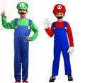 Взрослые Дети Малыш Косплей Костюм Супер Марио Луиджи Братья Fancy Dress Up Party Костюм Милый Костюм