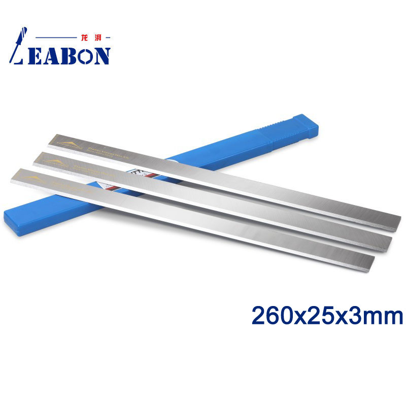 LEABON 260x25x3mm HSS W4% Wood Jointer Planer Blades  Woodworking Power Tools Accessories  (A01003013)