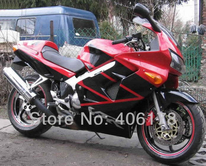 Hot Sales,VFR 800RR 1998 1999 2000 2001 Fairing kit For Honda VFR800 1998-2001 VFR 800 98-01 Red and Black Motorcycle Fairing hot sales white black for honda vfr800