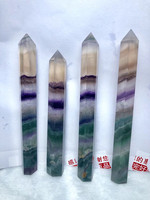 big Natural colorful fluorite Crystal Point Wand Tower single end Crystal Obelisk Healing Reiki meditation chakras Crystal gem