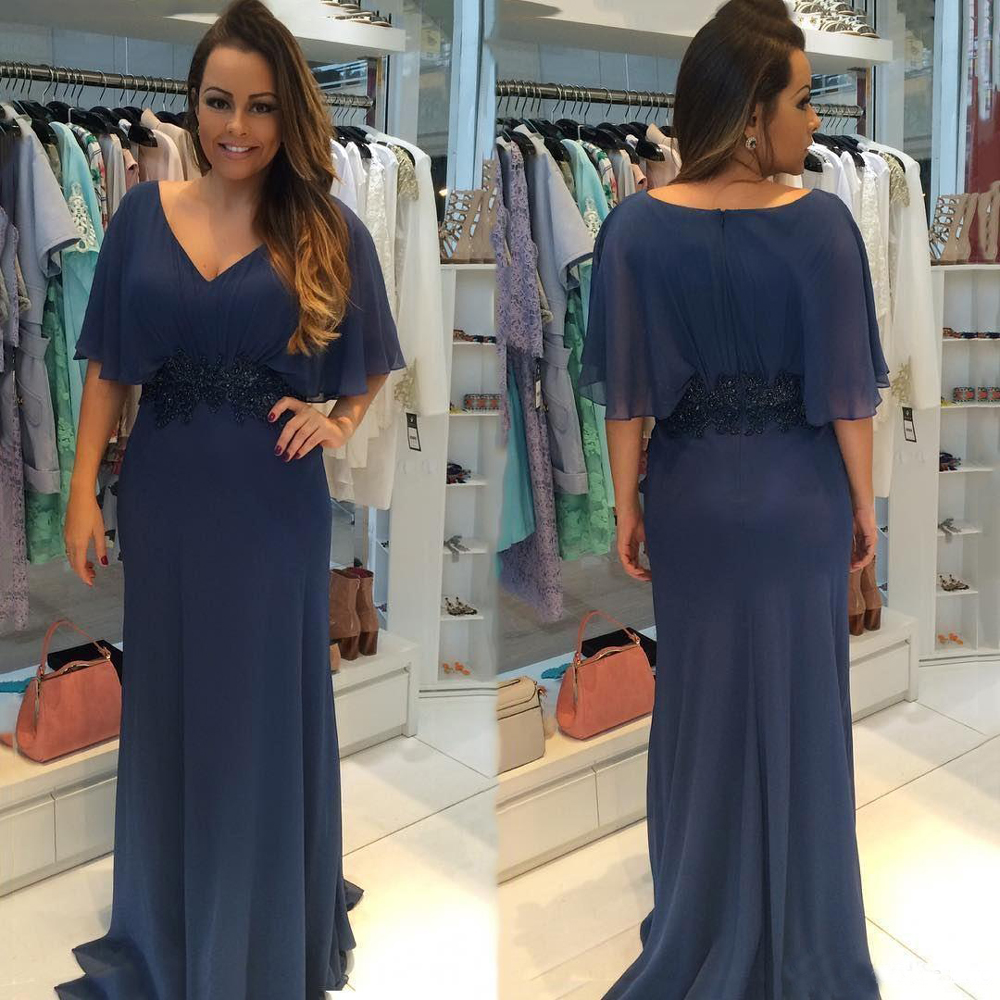 Party Evening Dresses 2019 Mother of the Bride dresses Chiffon Plus Size Long Evening Gown Wedding