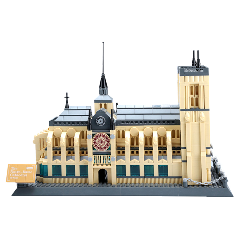 1380 Pieces Plastic World Famous Building Blocks Kits Kids Educationa Puzzle Game Toy -Notre Dame Cathedral ball finding game ru bun lock children puzzle toy building blocks