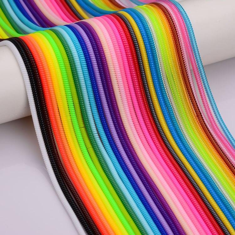 bilder für 500 teile/los Einfarbig TPU spirale Usb-ladegerät Kabel Wrap kabelaufwicklung für ladekabel Kabel veranstalter, länge 50 cm