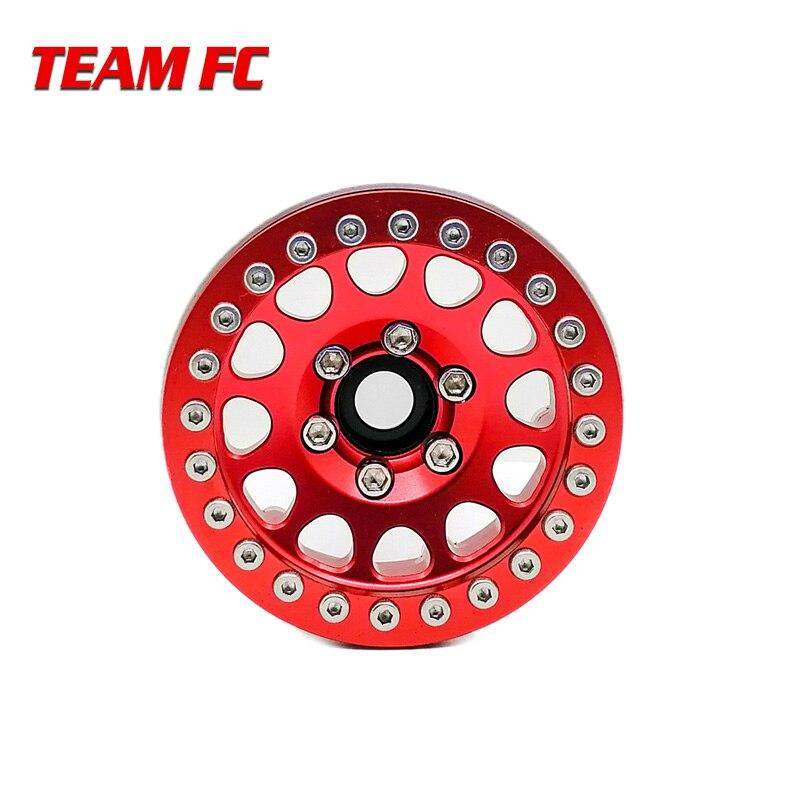 4pcs Aluminum Alloy 1 9 Beadlock Wheels Rims for 1 10 RC Crawler Axial SCX10 SCX10