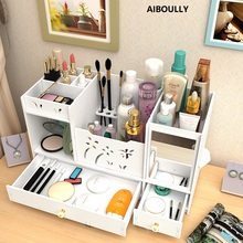 Lignine Plastics Office Table Storage Box Jewelry Box Container Makeup Organizer Case Handmade DIY Assembly Cosmetic Organizer new arrive hot 2pc set portable jewelry box make up organizer travel makeup cosmetic organizer container suitcase cosmetic case
