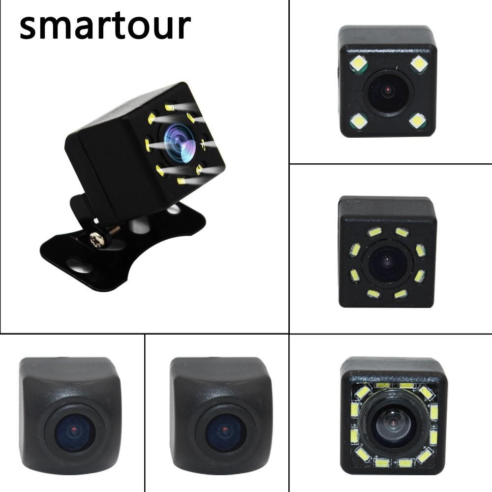 Smartour Car Reversing Rear View Camera 4 LED Night Vision  Auto Parking Monitor CCD Waterproof 140 Degree HD Video