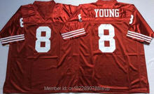 365fa143d Retro star  8 Steve Young Embroidered Throwback Football Jersey red white  and black(China