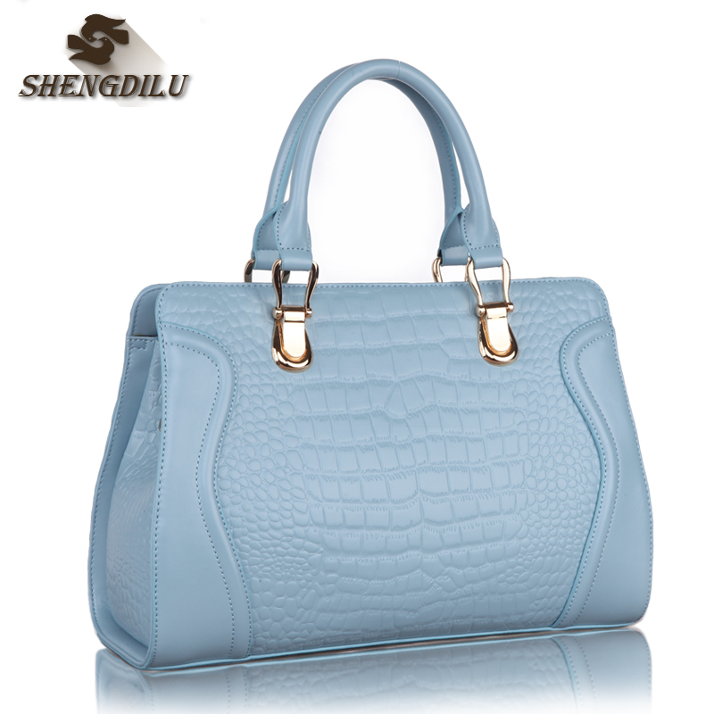 ShengDiLu designer handbags high quality Genuine leather bag female luxury crocodile bolsa feminina   famous brand shoulder bags chispaulo women genuine leather handbags cowhide patent famous brands designer handbags high quality tote bag bolsa tassel c165