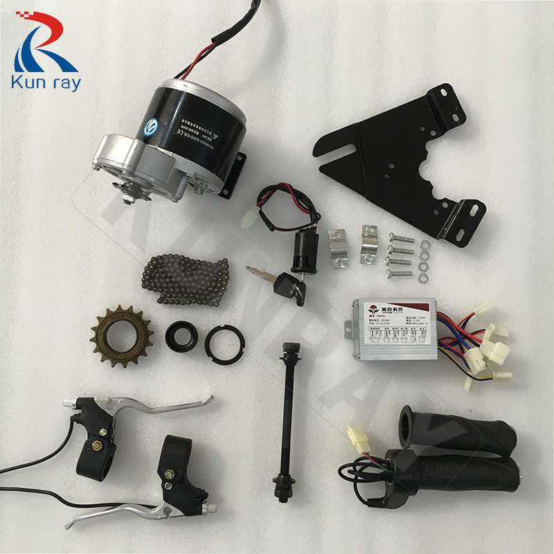 MY1016Z2 250W 24V 36V DC Brushed Motor with Controller and Twist Throttle Bike Engine Electric Bicycle Kit panlongic hand twist grip hall throttle 100a 5000w reversible pwm dc motor speed controller 12v 24v 36v 48v soft start brake