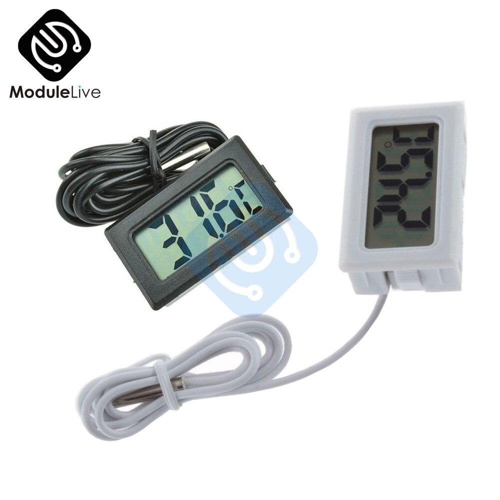 Mini Digital LCD Probe Fridge Freezer Thermometer Sensor Thermometer Thermograph For Aquarium Refrigerator Kit Chen Bar Use mini 1 2 lcd digital thermometer w sensor probe yellow 1 x lr44