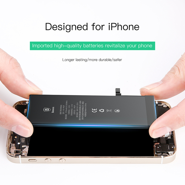 Baseus Battery For iPhone 6 6s 6 s 7 8 Plus Original High Capacity Bateria Replacement Batterie For iPhone X Xs Max Xr 7P 8P 2