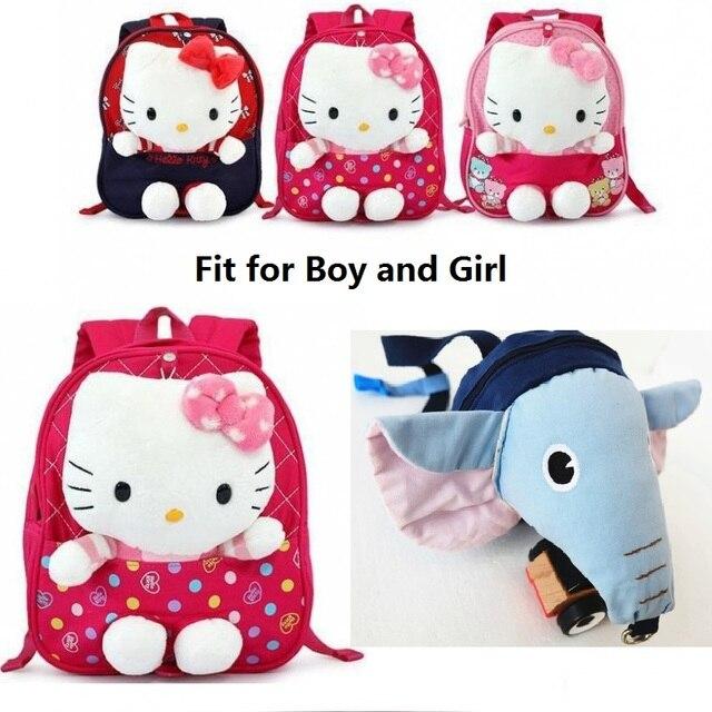 New Design Safety Hardness for Children Hello Kitty Children Backpacks Kid  Plush Backpacks with 3 Colors Baby Harness Plush Bag 58df00d9c7b49