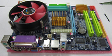 Motherboard for G31 integrated 2.8G Xeon server CPU dual core + fan set well tested working