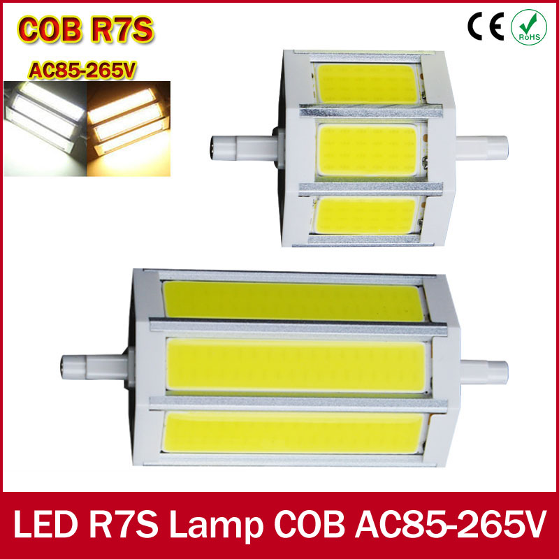 220v r7s led lamp 78mm 118mm 135mm 189mm 9w 13w 15w 20w cob led bulb replace halogen light for for R7s led 118mm 20w