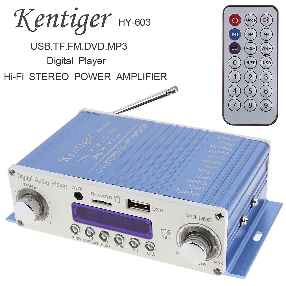 HI-FI Digital Auto Car Power Amplifier FM Radio Stereo Audio Player Support SD USB DVD MP3 Input with Remote Control