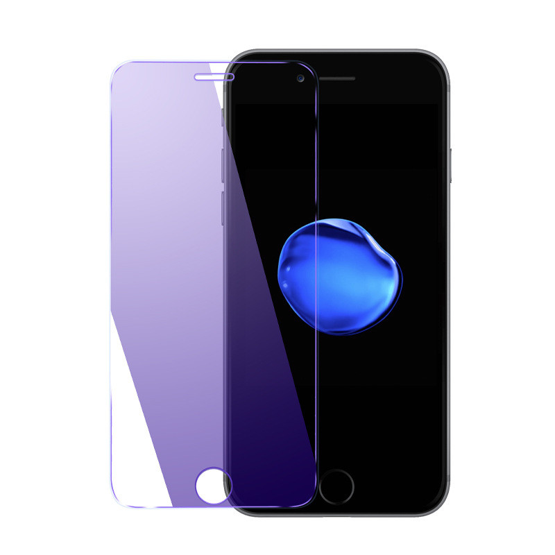 iPhone 6S Eyecare Purple Screen Protector for iPhone 8 Xr Xs XsMax Tempered Glass and iPhone Full Series Screen Protector