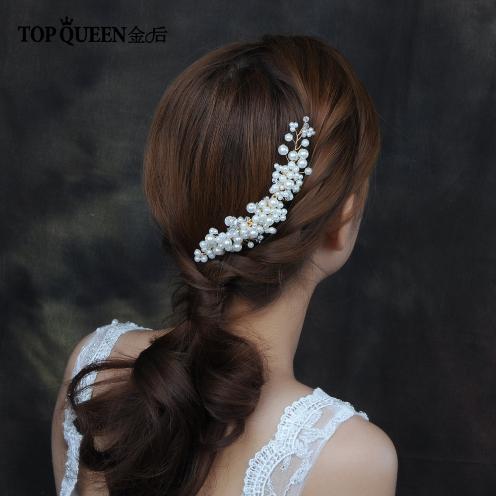 TOPQUEEN HP41 Wedding Tiara Wedding Combs Wedding Headwear Wedding Hair Accessories Bridal Headpiece Bridal Hair Comb