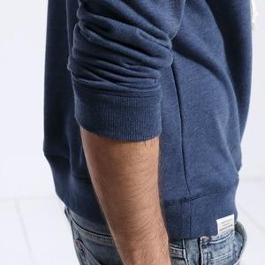 Image 5 - SIMWOOD 스웨터 남성 솔리드 컬러 캐주얼 후드 2020 봄 새로운 수 놓은 후드 풀오버 조깅 후드 플러스 크기 180211