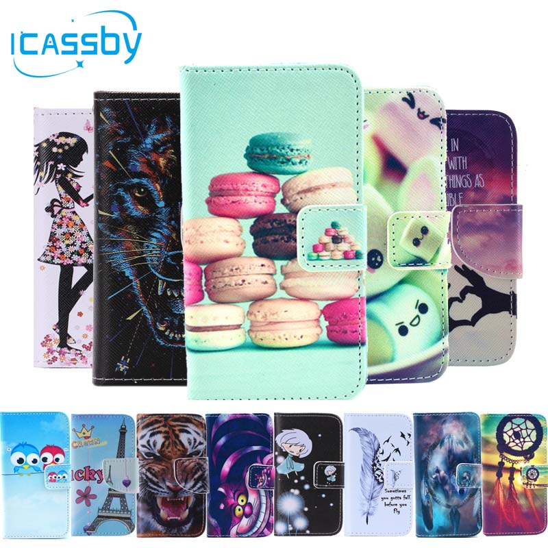 I4/4S Phone Etui For Coque Apple iPhone 4S Case Luxury Skull Cat Leather Wallet Flip