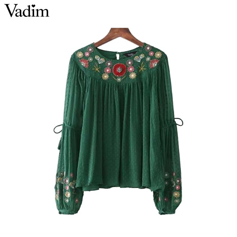 Vadim women chiffon shirts sleeve blouse ladies tops