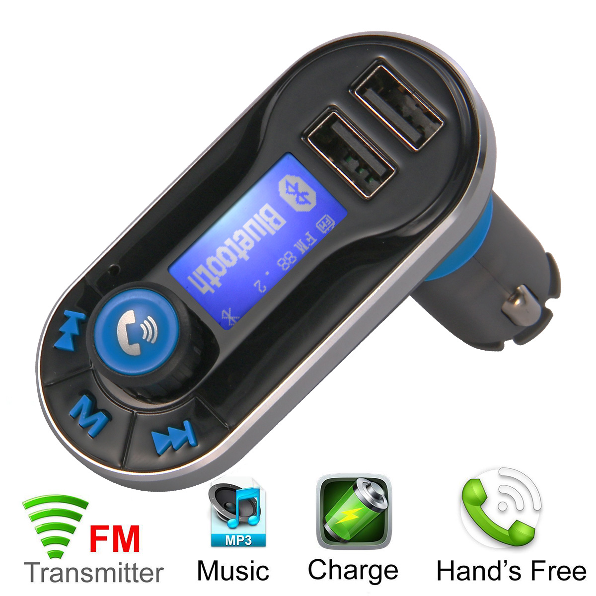 Phone Android Phone Radio Transmitter online buy wholesale phone radio transmitter from china bluetooth auto lcd car kit fm talking for mobile mp3 player usb aux