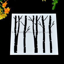 Scrapbooking tool card DIY album masking spray painted template drawing stencils laser cut templates Tree Forest 8071179(China)
