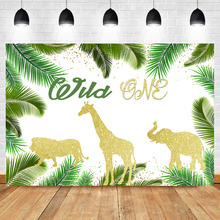 NeoBack Wild One Backdrop Jungle Baby Shower First Birthday Photography Background Safari Animal Party Banner Photo