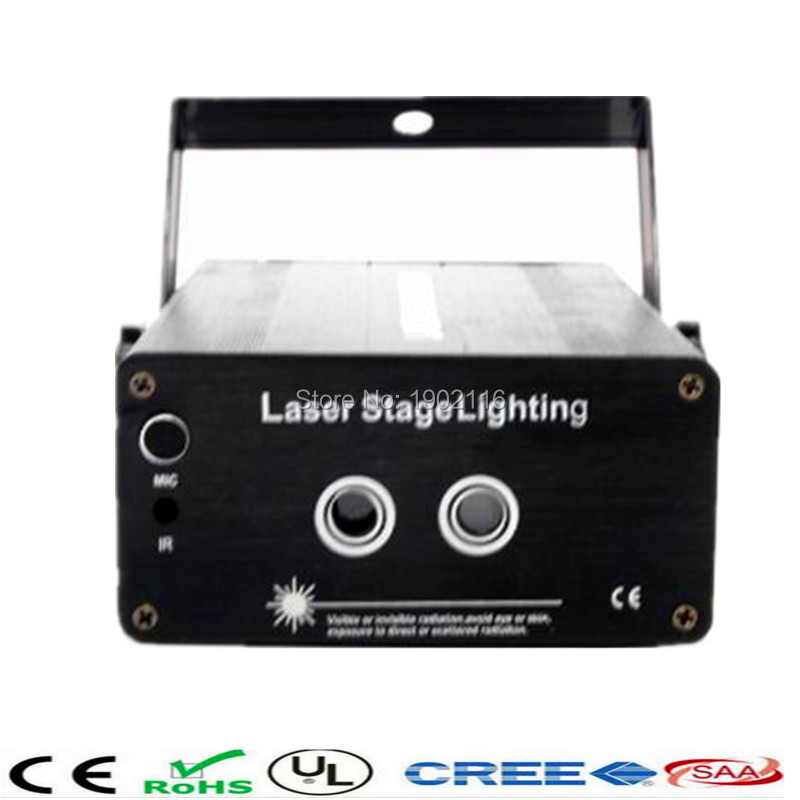 ФОТО New 2 Lens 24 Patterns RG Laser Projector Stage Lighting Effect RG LED DJ Disco Bar Show Home Party Professional Xmas Light