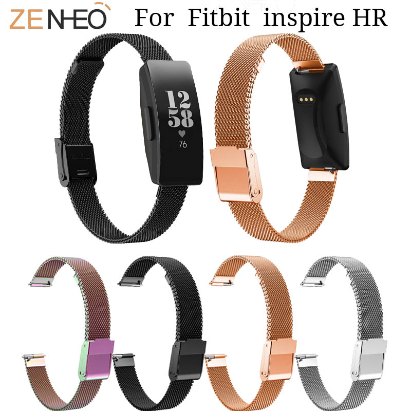US $3 19 29% OFF|For Fitbit Inspire HR watch Band Milanese wristband  replacement for Fitbit Inspire Stainless Steel watches Strap Bracelet  belt-in