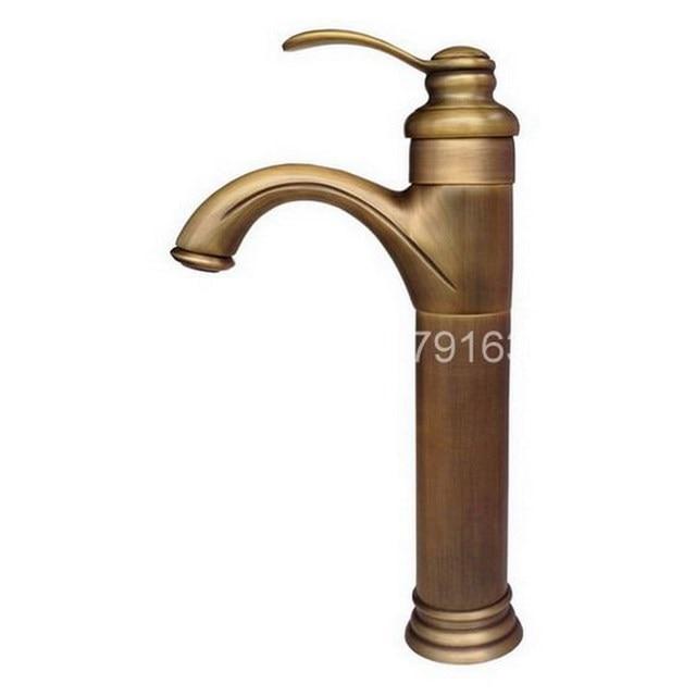 Vintage Retro Antique Brass Single Lever Handle One Hole Bathroom ...