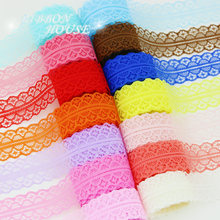 (5 yards/roll) 30mm Lace fabric Webbing Decoration Lovely gift packing Material(China)
