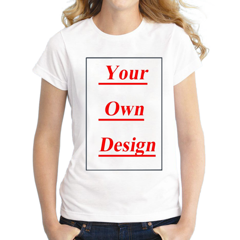 Design your own eco-friendly t-shirt - High Quality Customized Women T Shirt Print Your Own Design Lady Casual Tops Tee Shirts