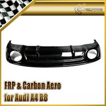ЭПР Стайлинга Автомобилей Для Audi A4 B8 (RS5 Взгляд) углеродного Волокна Лицом поднял РИ Стиль Задний Диффузор (для S-Line бампер только)
