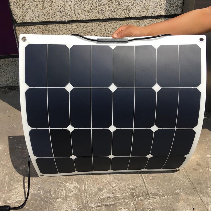 Sunpower 18V 50W Flexible Solar Panel Solar Modules for 12V Battery 50W Solar Charger Solar Cell Factory Price Drop Shipping