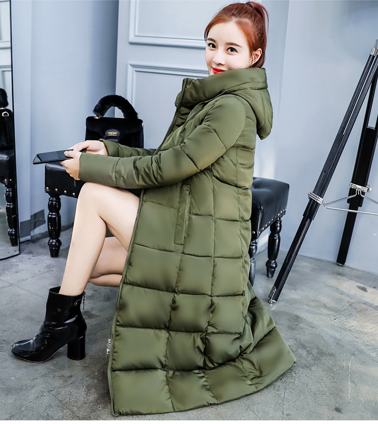 Modo Lungo Tasche Donna Solido Caramel verde Caldo Casual il Donne Parka Feminina Con Giacca Di Cappuccio Nero Cotone Dell'esercito 2018 Cappotti Inverno grigio qxwnXAvp