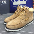 2016 warm winter snow boots Sheepskin Casual Male SUB649