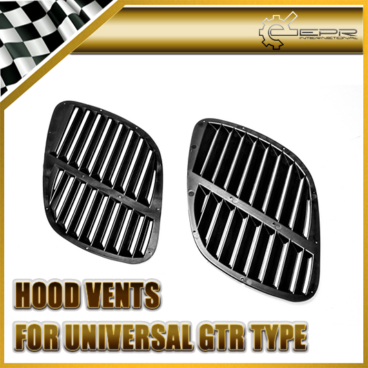 EPR Car Styling Universal Fitment ABS Plastic Hood Vent (GTR Type) Air Intake Duct Accessories Racing Trim ob 515 universal air flow vent hood covers for car silver pair