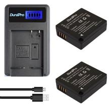 Battery plus Carregador de Lcd 2 PC Durapro Dmw-blg10 Dmwblg10 Blg10 Bp-dc15 Bpdc15 Li-ion para Panasonic Lumix Gf5 Gf6 Gx7 Lx100 Gx80 Gx85