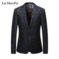 La MaxPa Fashion New Brand Blazers Men Suit Jacket Spring Autumn Casual Slim Fit Prom Groom