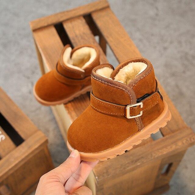 78accc9a2b1 Kinderen uggs 1-2-3 jaar oud winter fluwelen jongen meisjes korte laarzen  vrouwelijke